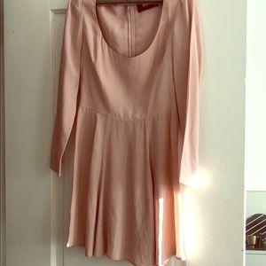 Reformation Babydoll Pink long sleeve dress!